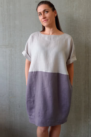 Eme Dress Sewing Pattern By Style Arc - Easy fit cocoon shaped summer dress sewing pattern