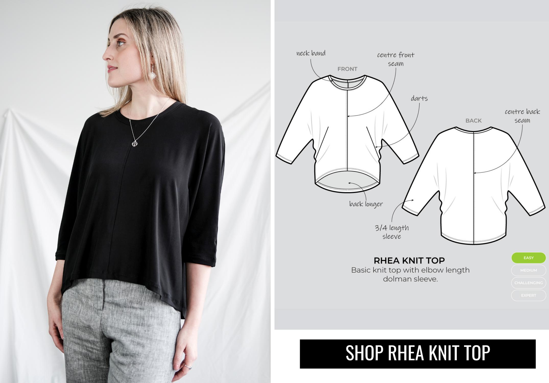 July Bonus pattern- Rhea Knit Top