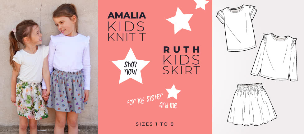 Amalia Kids Knit T- Available in sizes 1-8