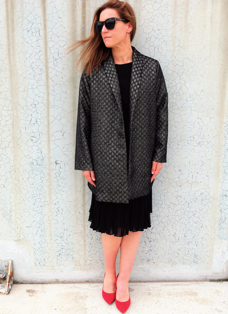 Loren Jacket in a lurex brocade