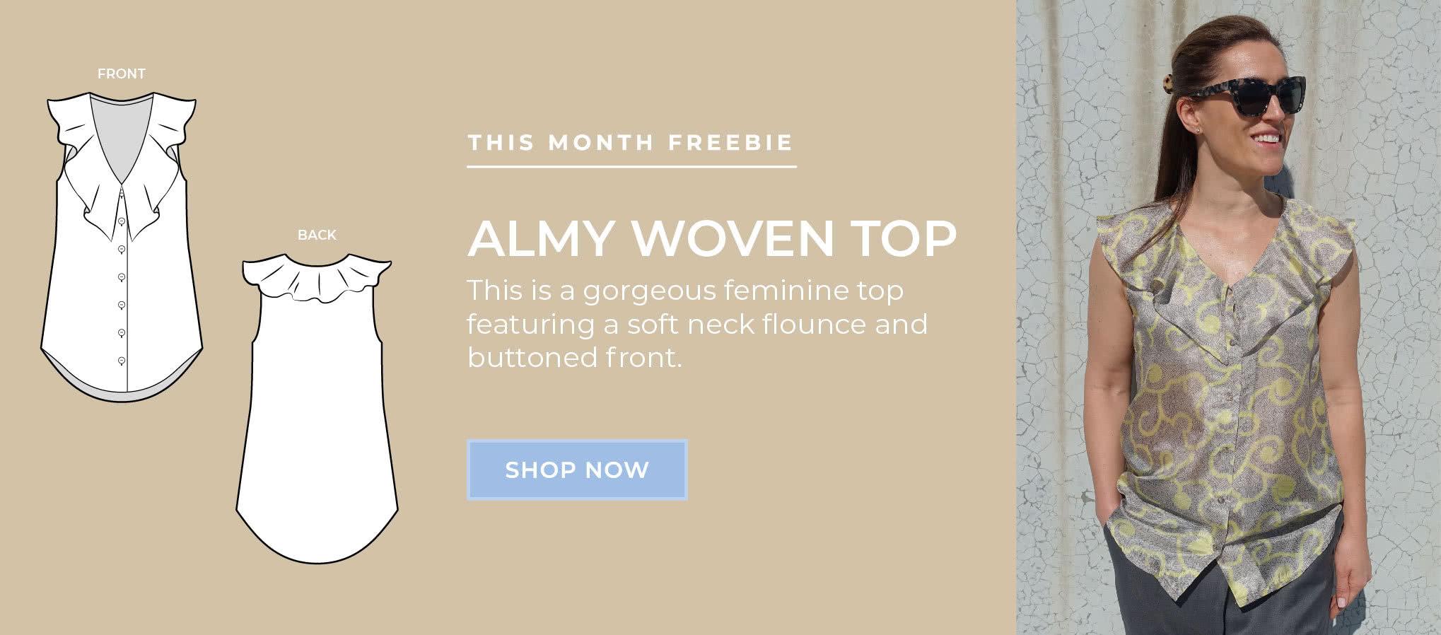 July 2020 Freebie - Almy Woven Top