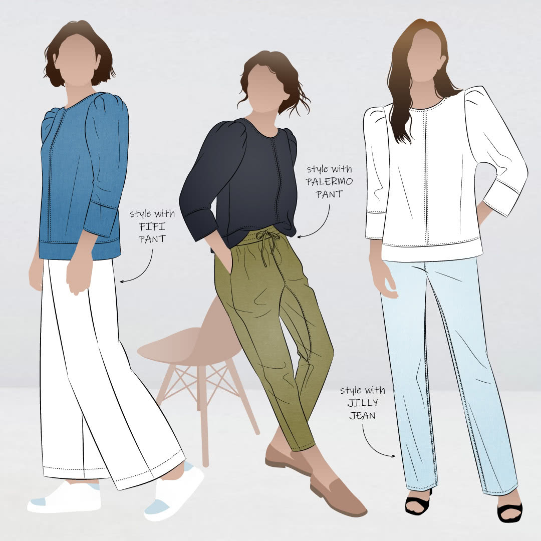 Florence woven top illustration