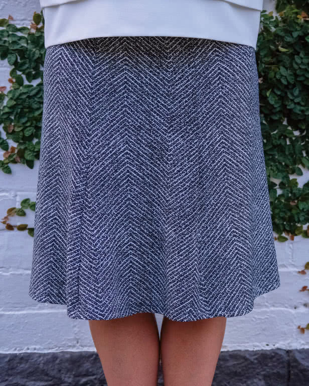 Gorgeous Gore Skirt Sewing Pattern By Anne And Style Arc - Great 6 gore knit jersey pull on skirt