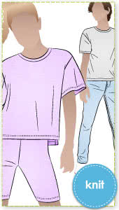 Hayden Teens Tee By Style Arc - Short sleeved, boxy shape knit tee with dropped shoulders, for teens 8-16.