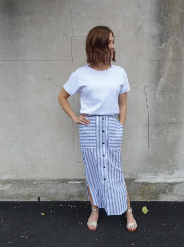 Indigo Maxi Skirt Sewing Pattern By Style Arc