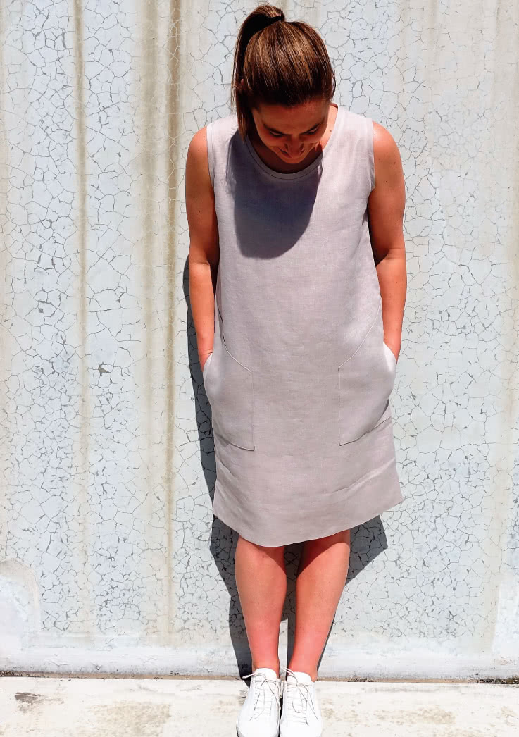 Iris Woven Dress Sewing Pattern By Style Arc