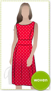 Janet Dress Sewing Pattern By Style Arc - Ideal office dress