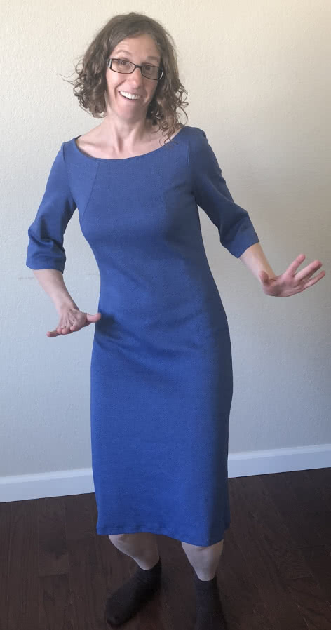 "Lara Dress Sewing Pattern By Victoria And Style Arc - Great ""throw on"" dress with neck darts"
