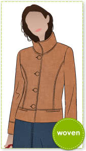 Mary-Ann Jacket Sewing Pattern By Style Arc - Lovely jacket sitting on high hip