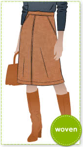 Mary-Ann Skirt Sewing Pattern By Style Arc - Flip skirt with side pockets