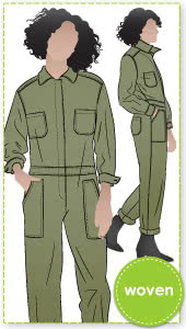 Melrose Boiler Suit By Style Arc - Traditional button front boiler suit
