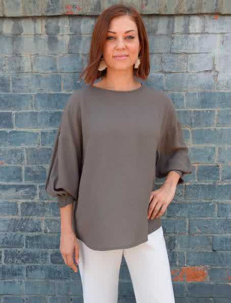 Mimi Woven Top Sewing Pattern By Style Arc - Dropped shoulder and sleeve loose fitting top sewing pattern.