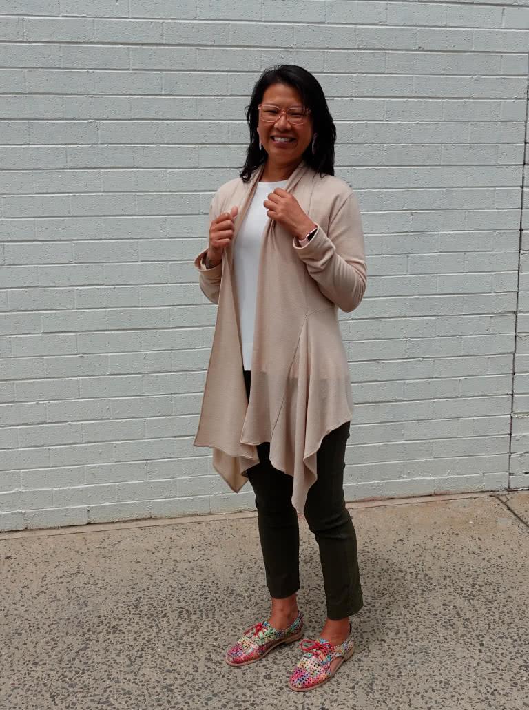 Nina Swing Cardi By Style Arc - Waterfall knit cardigan