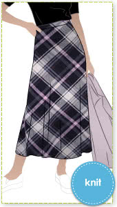 Northcote Knit Skirt By Style Arc - Elastic waist midi skirt that skims the body and slightly flares at the hemline.