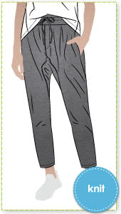 Palermo Knit Pant By Style Arc - Drop crotch pant with inseam pockets and elastic waist