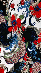 Polyester Dry Knit – Ornate Garden By Style Arc - Style Arc polyester dry knit fabric in Ornate Garden (print)