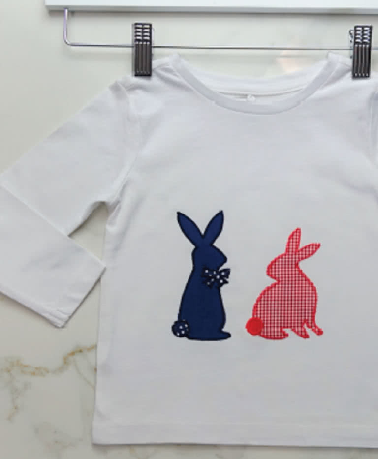 Rabbits Applique Template