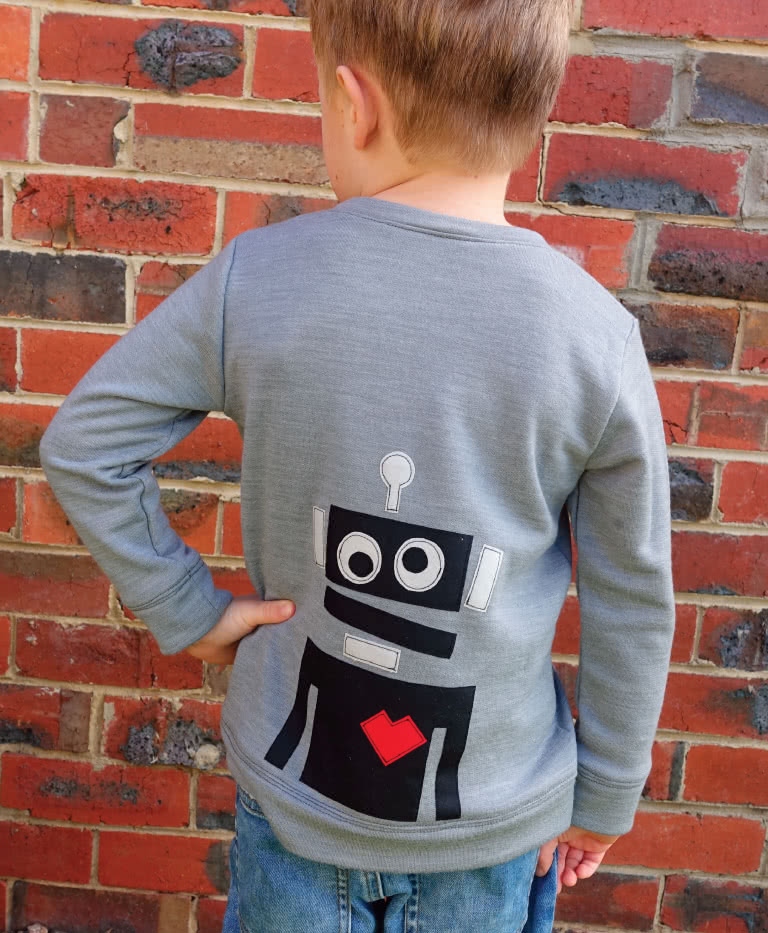 Robots Applique Template