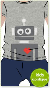 Robots Applique Template By Style Arc - Robots applique template pattern