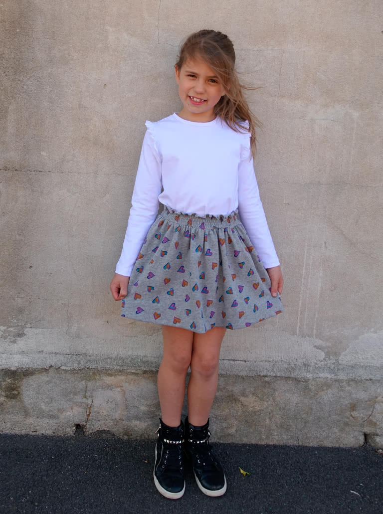 Ruth Kids Skirt By Style Arc - Easy to wear girls pull-on skirt