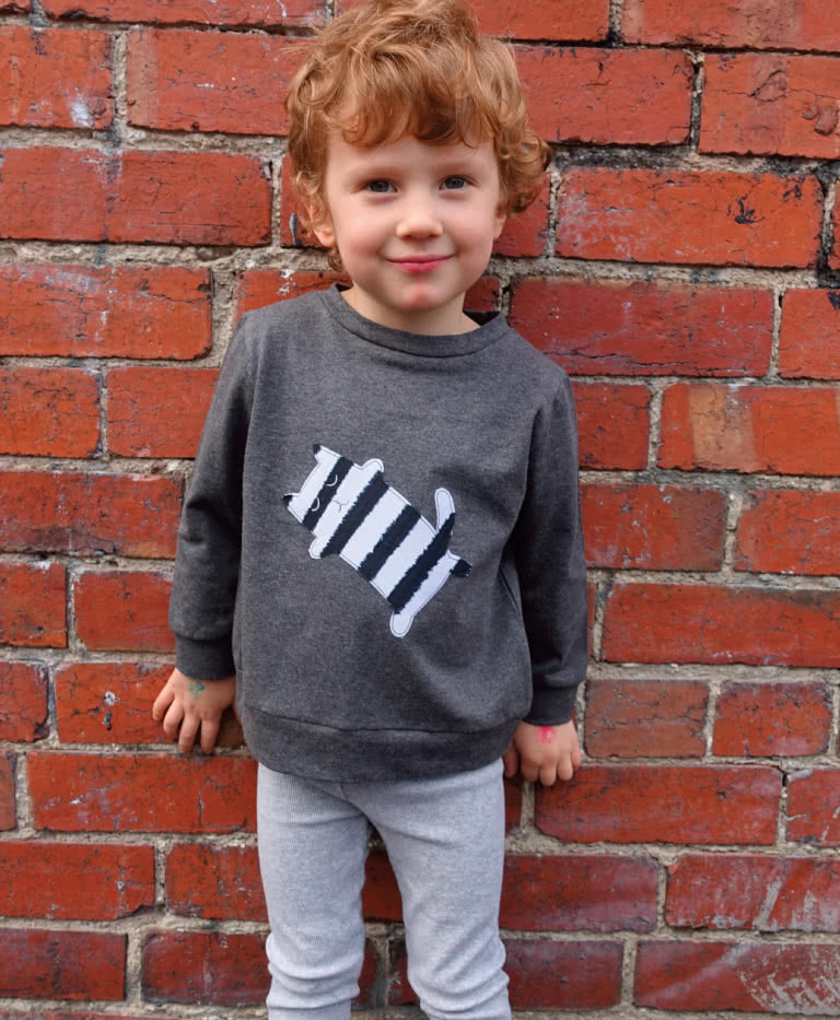Sammi Sweatshirt By Style Arc - Basic unisex sweatshirt pattern for children