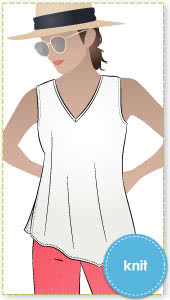 Seaside Sue Top Sewing Pattern By Style Arc - Great throw on tunic with interesting hemline