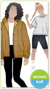 Simple and Casual Teen Bundle By Style Arc - Three awesome patterns that will be on high rotation for your teen! The Jacket, Tee and Leggings are great staples that interchange with any wardrobe, in sizes 8-16