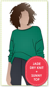 Sunny Top + Jade Dry Knit Crepe Fabric Sewing Pattern Fabric Bundle By Style Arc