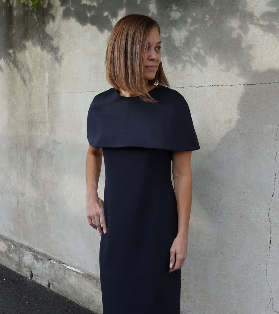 Sussex Cape Dress Sewing Pattern By Style Arc