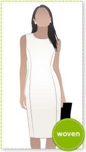 Sussex Dress Sewing Pattern By Style Arc - Classic fitted sleeveless sheath dress