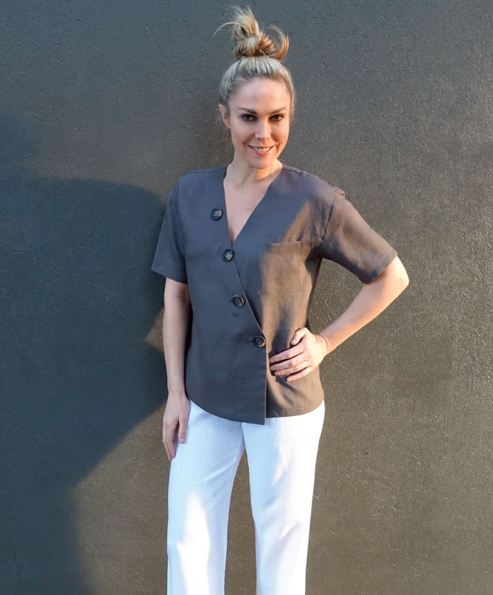 Sutton Woven Top Sewing Pattern By Style Arc