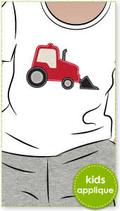 Trucks and Tractors Applique Template By Style Arc - Trucks, tractors and diggers applique template pattern
