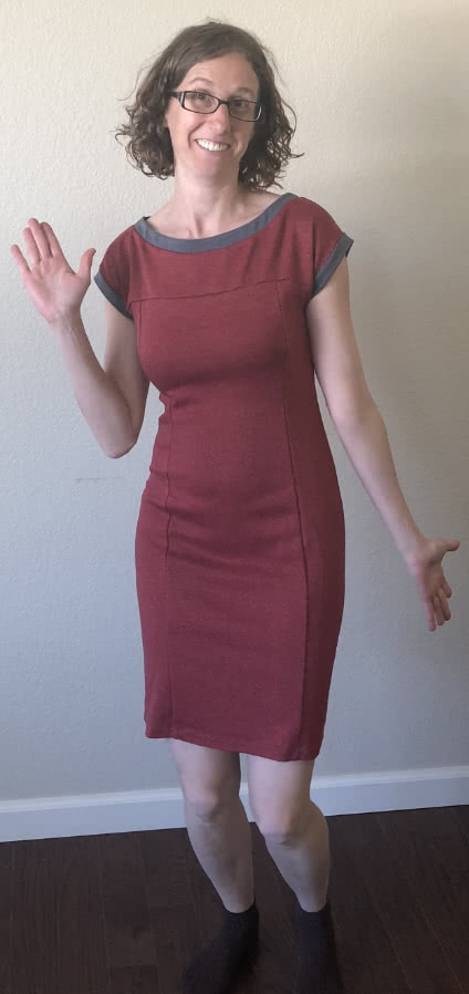 Twiggy Dress Sewing Pattern By Victoria And Style Arc - Up to a moment dress with contrast bands