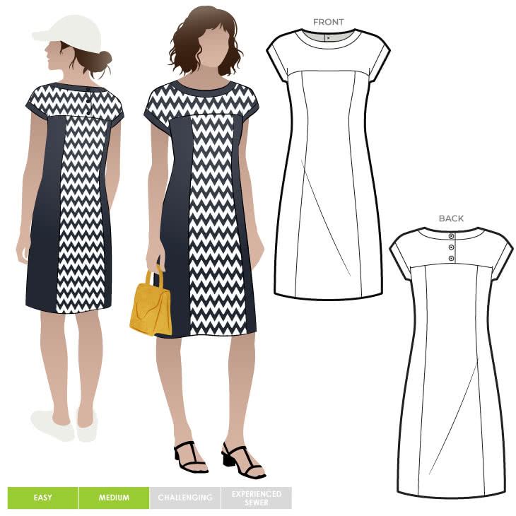 Twiggy Knit Dress By Style Arc - Slip on fitted knit dress with a boat neck and extended shoulder line.