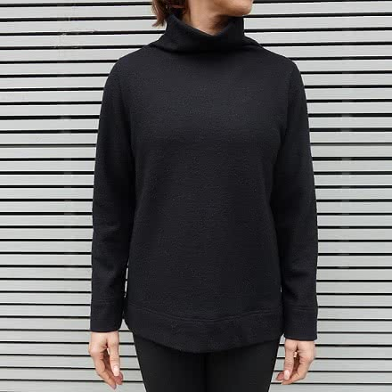 Winnie Knit Top Sewing Pattern By Style Arc - Funnel neck sweater with wide hems