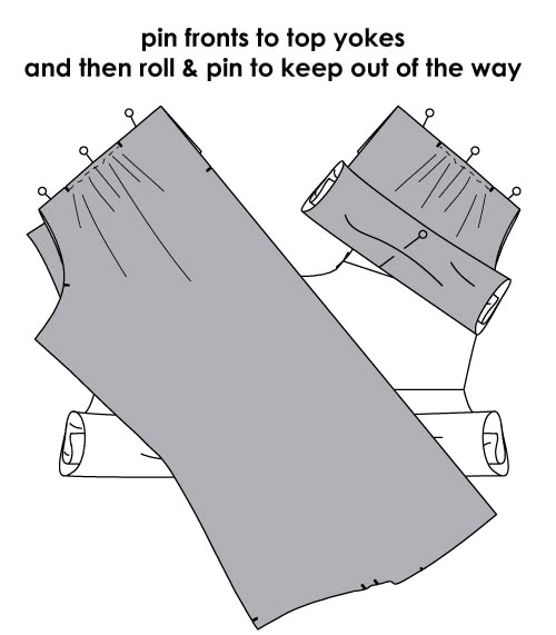 How to Sew a Neat Shirt Yoke - Step 5